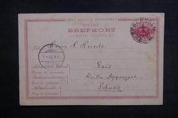 SUÈDE - Entier Postal De Stockholm Pour La Suisse En 1890 - L 38377 - Postal Stationery