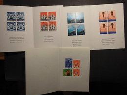 Schweiz Mi.1525/26 Vierblock PPT Heft,1499/00 Dto. Dazu PTT Heft Cept Ausgabe 1995 - FDC