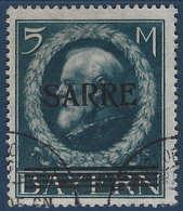 France Colonies Sarre N°30 Oblitéré Rare Tres Frais Et RRR Signé Brun - 1920-35 Société Des Nations