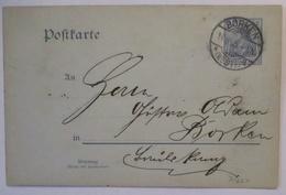 D.Reich Ganzsache 1905 Aus Borken, Fahrrad-Gruß All Heil Auf Der RS (45895) - Deutschland