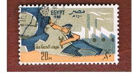 EGITTO (EGYPT) - SG 1421  - 1980  INDUSTRY DAY      - USED ° - Egitto