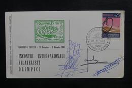 ITALIE - Carte Postale + Oblitération Jeux Olympiques En 1968 - Cyclisme Sur Piste - Signatures Des Coureurs - L 38384 - 6. 1946-.. Republic