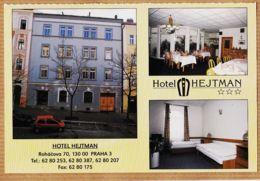 Euc109 PRAHA Tchéquie Hotel HEJTMAN RENAULT TWINGO Multivues Cppub 1990s  ROHACOVA 70 Tisk GARON Czechoslovakia - Tchéquie