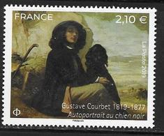 FRANCE, 2019, MNH,ART, GUSTAVE COURBET, SLEF-PORTRAIT, DOGS,  1v - Künste