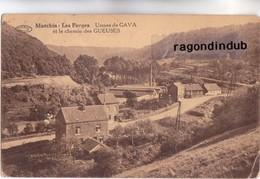 CPA  - BELGIQUE - MARCHIN - LES FORGES Usine De GAVA Et Le Chemin Des GUEUSES VERS 1920 1930 - Marchin