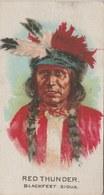 Image Indian Chiefs / Chefs Indiens...Blackfeet... Sioux...image Offerte Avec L'achat De Cigarettes (voir Verso ) - Trade Cards