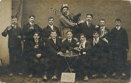 Carte Photo Bourges Classe 1912 Cornemuse Biniou Bagpipe Photo Girardot - Bourges