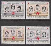 1985 Albania Albanie World War II WWII Martyrs  Complete Set Of 4  MNH - Albanië