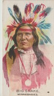 Image Indian Chiefs /Chefs Indiens...Big Snake...Winnebagoes -image Offerte Avec L'achat De Cigarettes (voir Verso) - Trade Cards