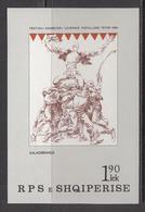1985 Albania Albanie Folk Theatre Drama   Souvenir Sheet  MNH - Albanië