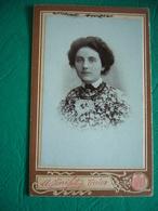 ORIGINALE FOTOGRAFIA ALL'ALBUMINA FORMATO CABINET UMBERTO PINI FOTOGRAFO TREVISO FINE '800 - Oud (voor 1900)