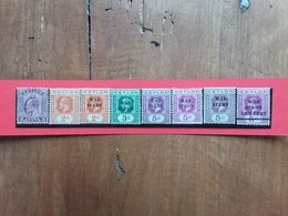 EX COLONIE INGLESI - INDIA - 8 Valori Nuovi * (1 Valore Senza Gomma) + Spese Postali - India (...-1947)