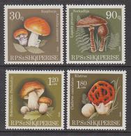 1990 Albania Albanie  Mushrooms Fungi  Complete Set Of 4  MNH - Albanië