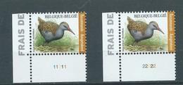 BUZIN 4671** Waterral / Râle D'eau ** PL 1 & 2 Zegels Voor Aangetekende Zending / Timbres Recommandé - 1985-.. Birds (Buzin)