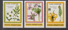 1991 Albania Albanie  Flowers Fleurs Complete Set Of 3 MNH - Albania