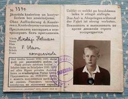 Y 1930 / 31   LATVIA / RIGA City  PRIVATE BUS Line  Season Ticket For Student - Week-en Maandabonnementen