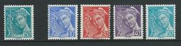 FRANCE 1942 . N° 538 Et Série N°s  546 à 549 . Neufs ** (MNH) - France