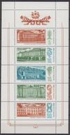 Russia, USSR 25.12.1986 Mi # 5671-75 Kleinbogen Museums Of St. Petersburg (Leningrad) MNH OG - Nuevos