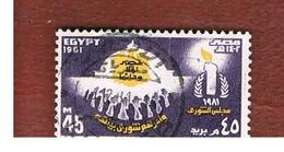 EGITTO (EGYPT) - SG 1463  - 1981 SHURA COUNCIL   - USED ° - Egitto