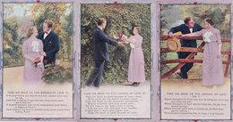 Take Me Back To The Garden Of Love 3x WW2 Songcard Postcard S - Zonder Classificatie