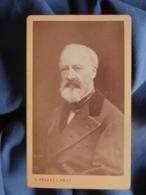 Photo CDV L. Fragney à Besançon - Beau Portrait Notable Agé Et Barbu, Circa 1875 L454 - Ancianas (antes De 1900)