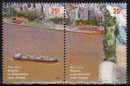 Argentinien MiNr. 2717/18 ** 150 Jahre Stadt Rosario - Argentinien