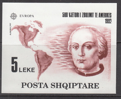 1992 Albania Albanie  Columbus Explorer Europa America Souvenir Sheet MNH - Albanien