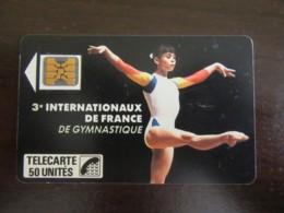 Télécarte Internationaux Gymnastique 1989 F63 - SC4on - 6 N° PE 105343 - 1989