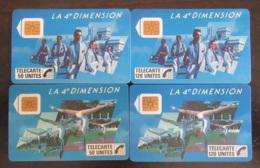 4 Télécartes 4e Dimension F36, F37, F38, F39 - 50U Et 120U - 4 N° PE 1005, 1024, 1041, 1056 - Frankrijk