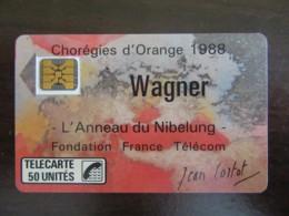 Télécarte Wagner 1988 F23A - SC4on - 50U - 6 N° PE 102985 - Frankrijk