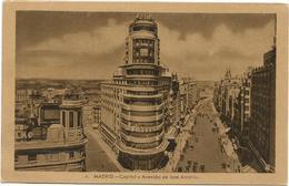W4207 Madrid - Capitol Y Avenida De José Antonio / Viaggiata 1952 - Madrid
