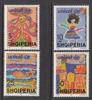 1997 Albania Albanie UNICEF Health Complete Set Of 4  MNH - Albanien