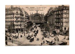 FRANKRIJK POSTCARD PARIJS MET GARE DU NORD SHIPPED 1924 TO ROTTERDAM - France
