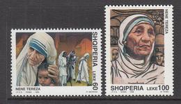 1998 Albania Albanie Mother Theresa   Complete Set Of 2 MNH - Albania