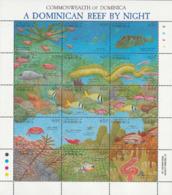 DOMINICA 1992 - Vue Du Corail La Nuit-Poissons Et Faune Marine - Dominique (1978-...)