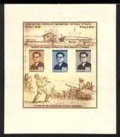 NN - [98016]TB//(*)/nogum-NN- Albanie 1947, BL4, Mort De Quemal Stafa, Grain Dans Le Papier, Très Peu Courant - Albanie
