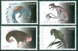 FEROES 2012 - Monstres De Superstotion - 4 V. - Féroé (Iles)