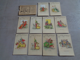 Beau Lot De 10 Cartes Postales Avec Poschette De Belgique  Bruges  Tournoi De L' Arbre D' Or   10 Postkaarten  Brugge - Cartes Postales