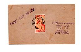 AFRIKA KENYA TANGANYIKA EN UGANDA FIRST DAY COVER 1948 - Timbres