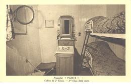 """Paquebot """"Paris"""" - Cabine De 2è Classe. - Paquebots"""