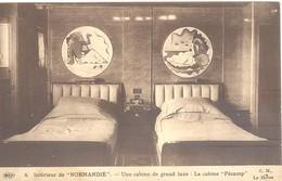 """Intérieur De """"Normandie"""" - Une Cabine De Grand Luxe : La Cabine """"Fécamp"""". - Paquebots"""