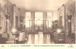 """Intérieur De """"Normandie"""" - Salle De Communication Avec Le Grand Salon - Paquebots"""