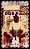 POLYNESIE 2005 - Yv. 743 **   Faciale= 2,10 EUR - Préparation Du Tapa  ..Réf.POL24203 - Französisch-Polynesien
