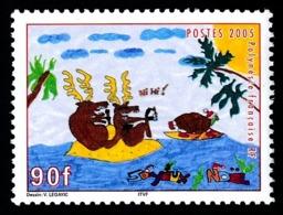 POLYNESIE 2005 - Yv. 760 **   Faciale= 0,76 EUR - Dessin D'enfant (Noël)  ..Réf.POL24209 - Französisch-Polynesien