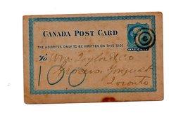 CANADA VERY  OLD POSTCARD 1881 - Non Classés