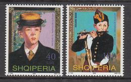 2003 Albania Albanie Art Paintings Manet  Complete Set Of 2  MNH - Albanië