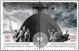 ALBANIE Shqipëria 3222/23 Immigration, Lady Liberty, Bateau - Rifugiati