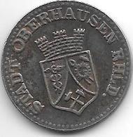 *notgeld Oberhausen 10 Pfennig 1919 Fe 10507.2 - [ 2] 1871-1918 : Empire Allemand
