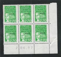 Coin Daté Marianne De Luquet 2.70frs Surchargé Mayotte - 1990-1999