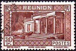 Réunion Obl. N° 148 - Vue -> Musée Léon Dierx à Saint Denis Le 20f Brun - Oblitérés